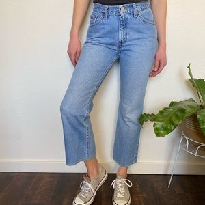 Vintage Levi's Cropped 517 High Rise Jeans